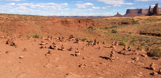 In time, these baby cairns will grow up to be big monuments.