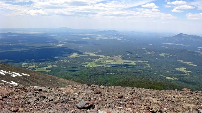 Looking out from Humphreys Peak, the highest elevation in Arizona.