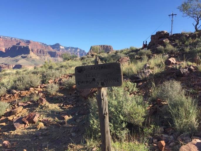 A telephone pole and phone lines in the Grand Canyon?!