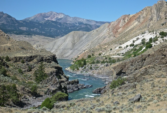 The Yellowstone River not far from the NW corner of the park near Gardiner MT