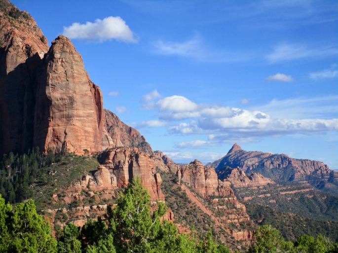 Past the end of the Kolob Canyon lies a different territory.