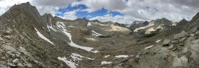 Looking south from Pinchot Pass.  This is nearly a 180º view.
