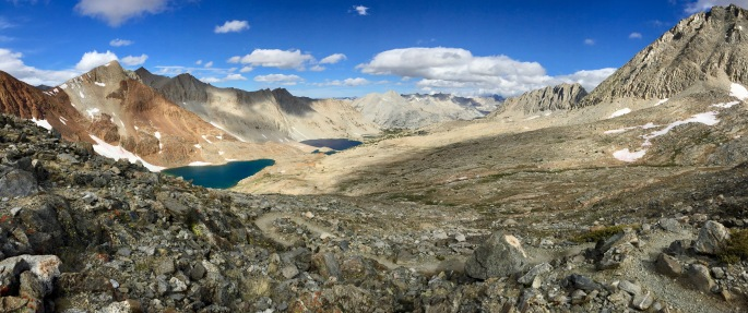 A nearly 180º view to the south from Pinchot Pass