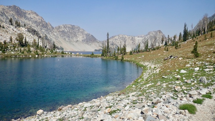 This may be the south end of Sawtooth Lake, but another lake beckons.