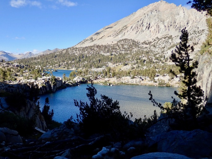 The southern and northern Rae Lakes