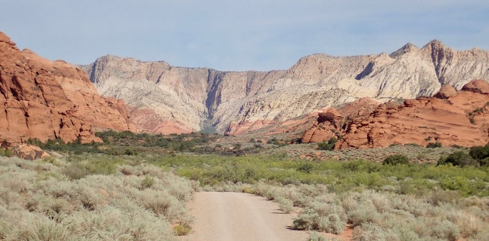 The West Canyon Road is an easy stroll through red rock country