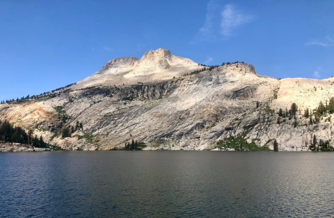 Mount Hoffmann as seen from the shore of Lake May