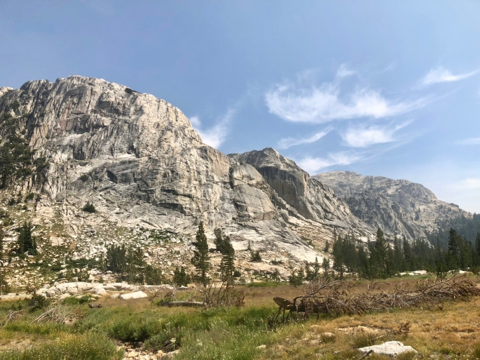 This is the High Sierra, so granite mountains are never far away