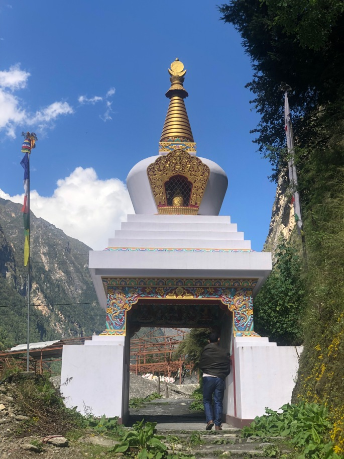 This stupa also serves to welcome visitors to Chame