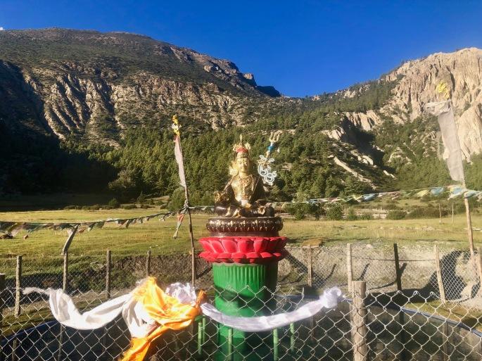 Hindu god Shiva with his trishula (trident)