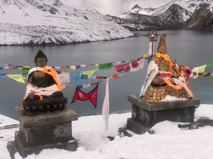 Buddha and Shiva at Tilicho Lake