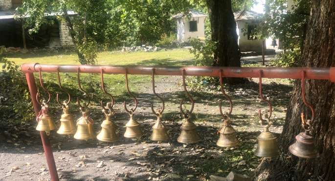 Bells near the Buddha in Muktinath.  I only saw them here.
