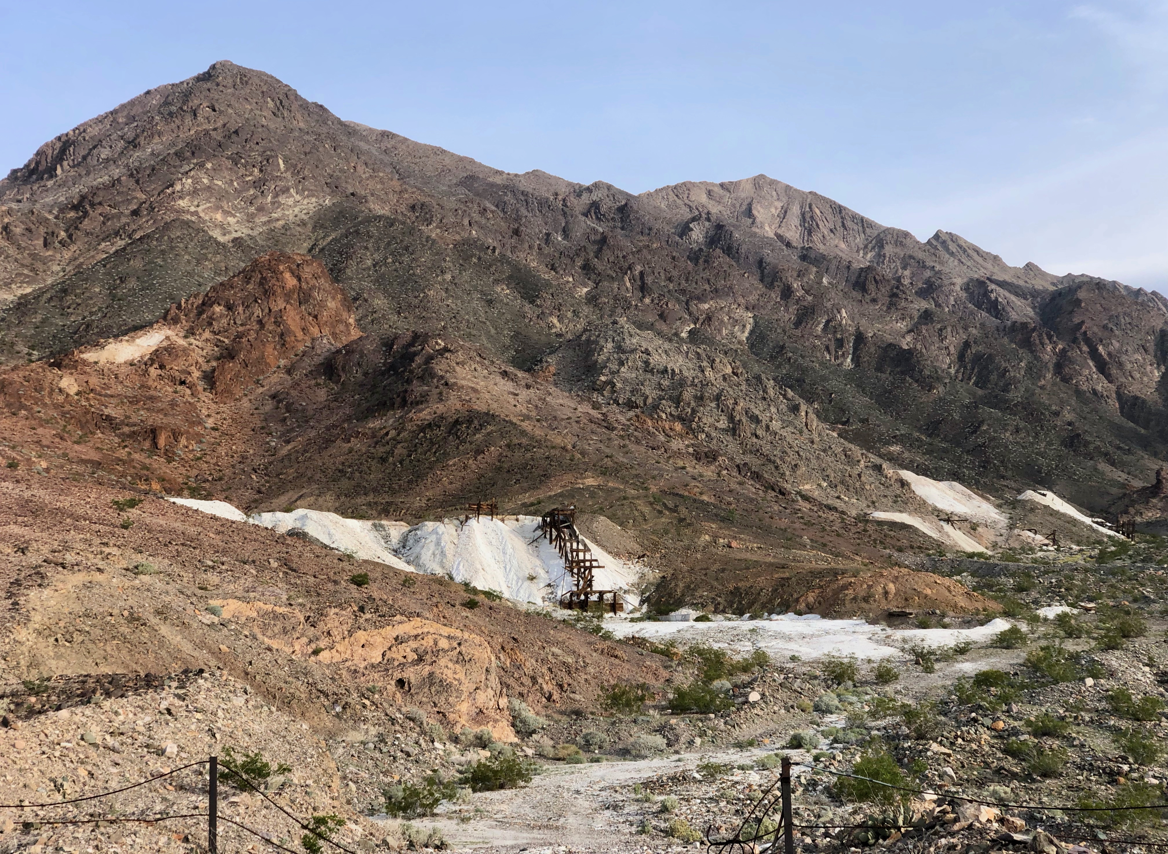 An abandoned borax mine