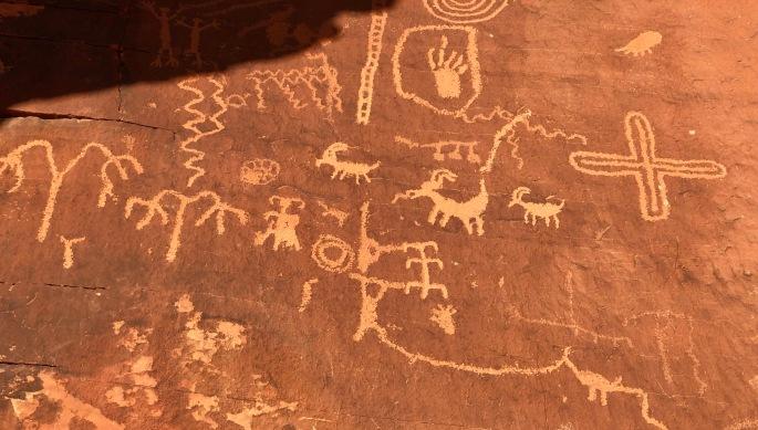 Petroglyphs at Atlatl Rock