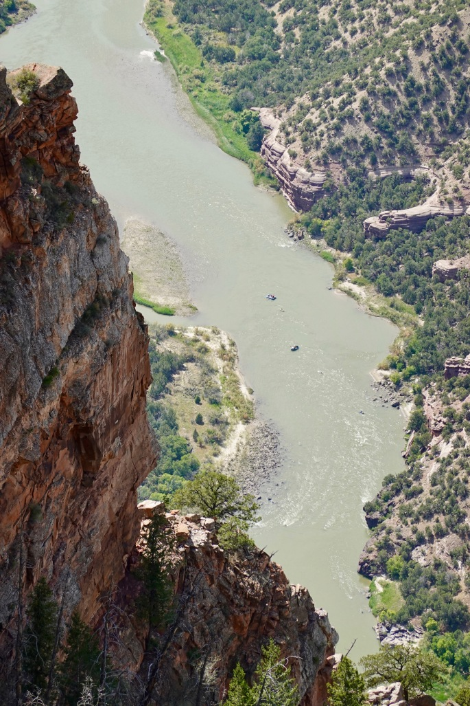 Boaters float down the Green River