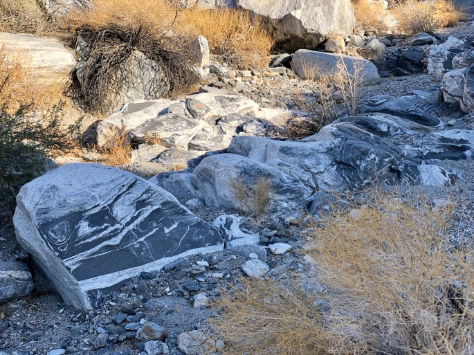 Curious rocks.  When I'm hiking I find myself wishing I were a geologist.