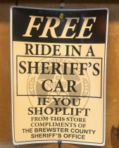 I wonder where the sheriff's car will go.
