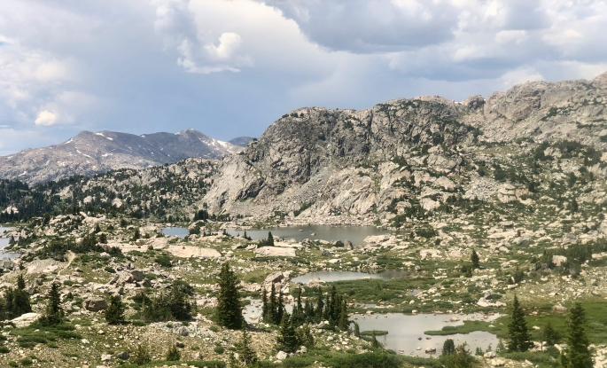 Just one portion of Titcomb Basin