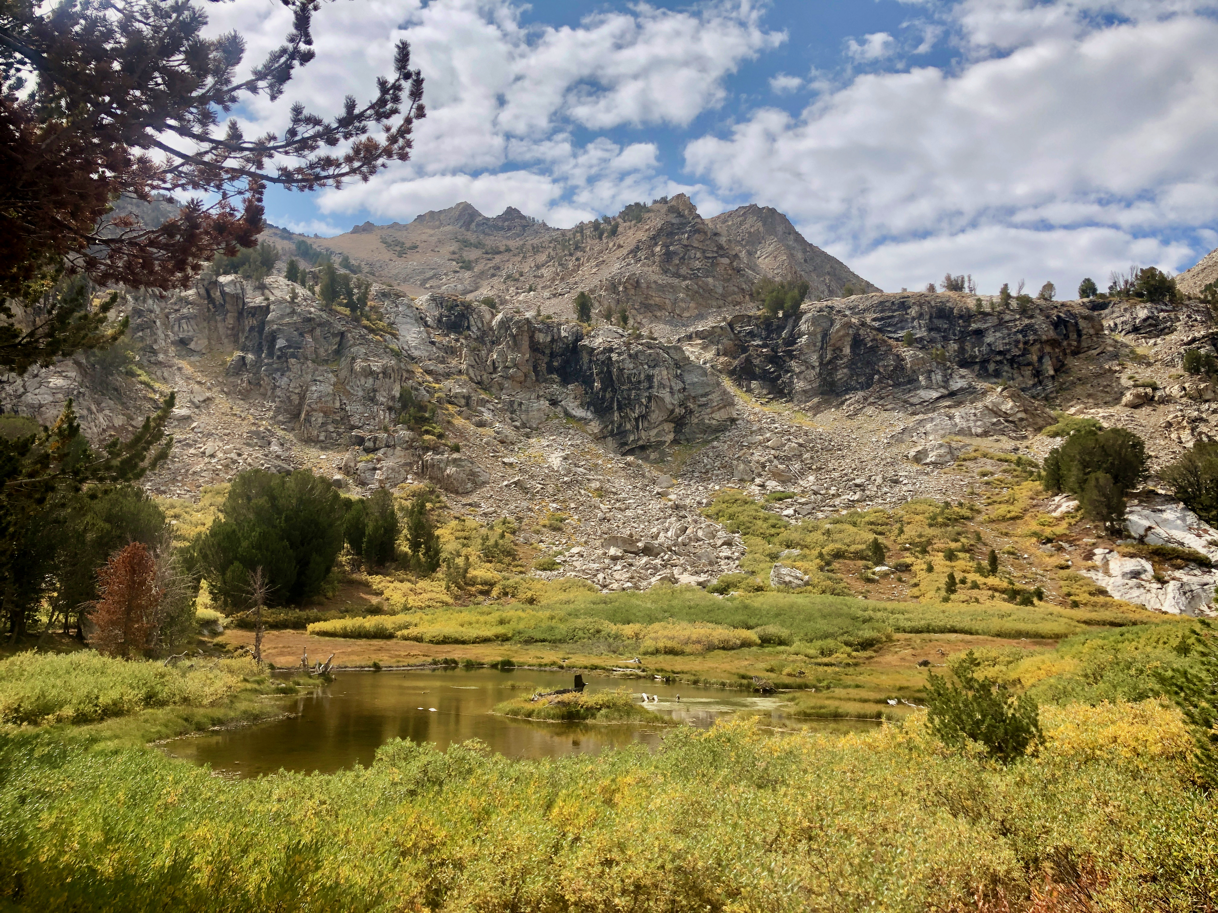 One of several lakes on the journey above the north trailhead