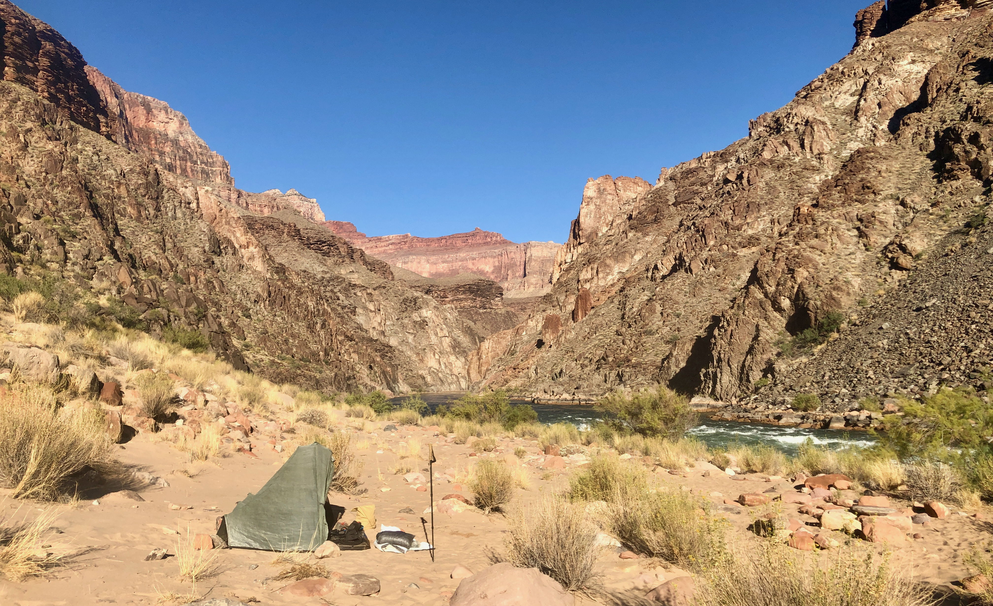 The Colorado River at Hermit Rapids (right)