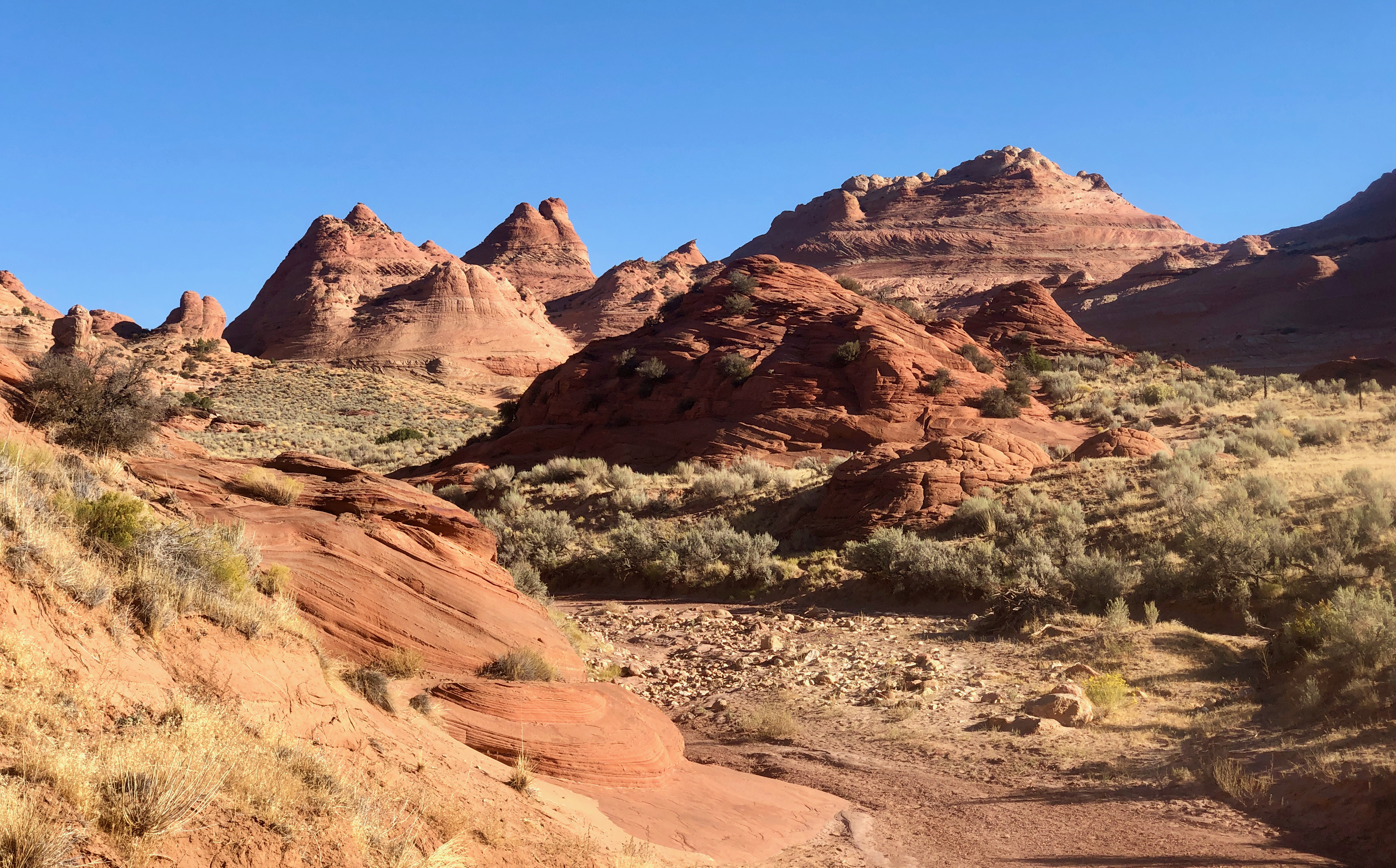Conical sandstone formations